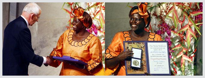 Wangari Maathai - an excerpt from the Nobel Peace Prize winner's acceptance speech
