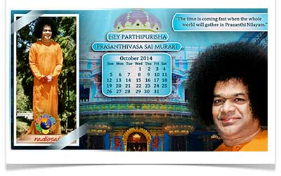 radiosai October calendar 2014