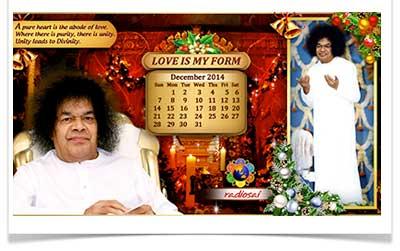 radiosai December calendar 2014