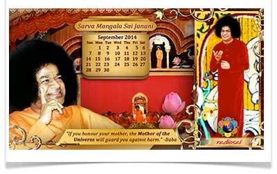 radiosai September calendar 2014